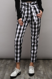Do & Be Black Check Pants - Product Mini Image