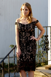 Do & Be Black Lace Dress - Front cropped