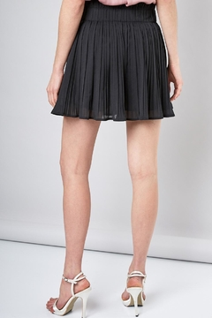 Do & Be Black Pleated Mini-Skirt - Alternate List Image