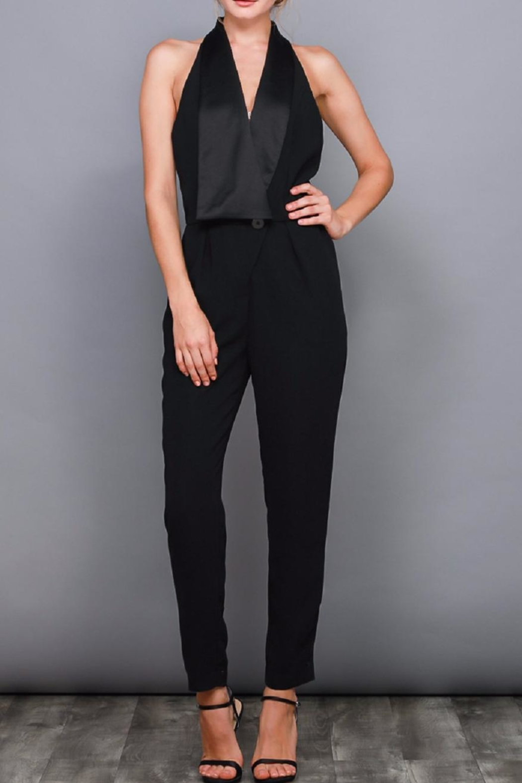 bb9d353bcee Do   Be Black Tuxedo Jumpsuit from New York by Dor L Dor — Shoptiques