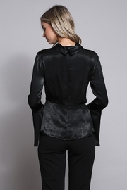 Do & Be Black Wrap Top - Back cropped