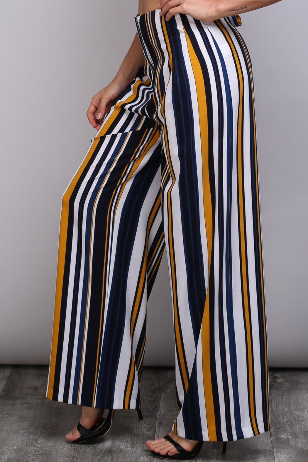 Do & Be Bleted Stripe Pants - Main Image