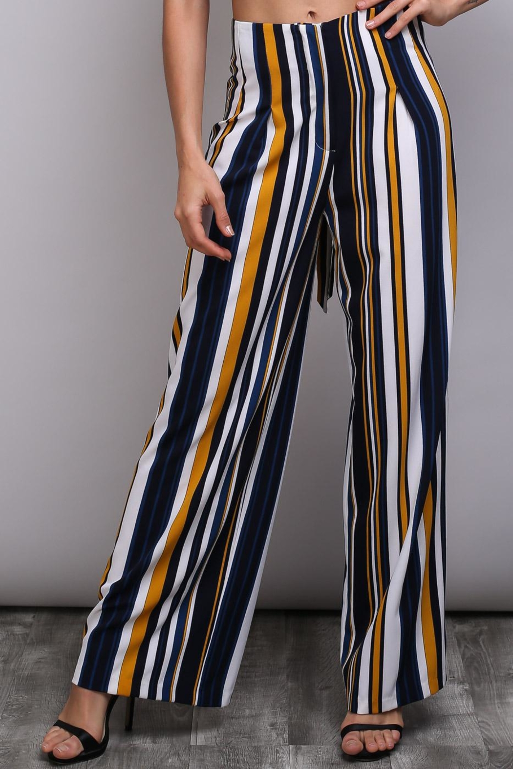 Do & Be Bleted Stripe Pants - Side Cropped Image