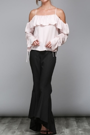 Do & Be Blush Ruffle Top - Front cropped