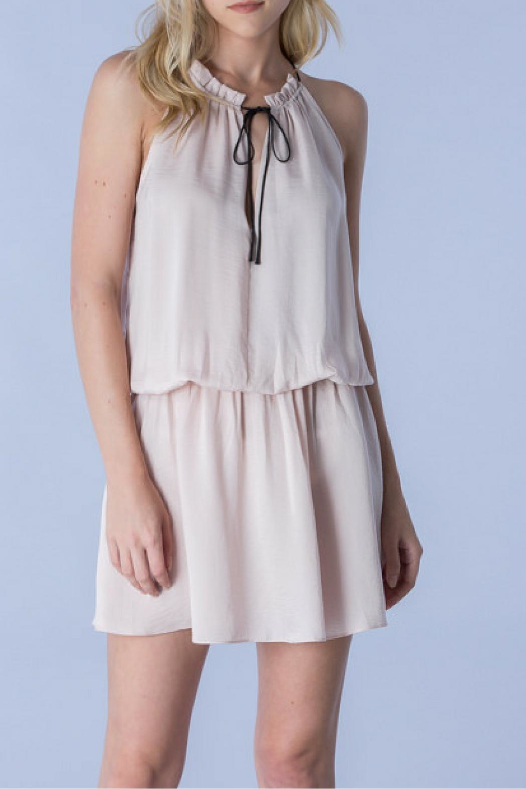 Do & Be Blush Tied Dress - Front Cropped Image