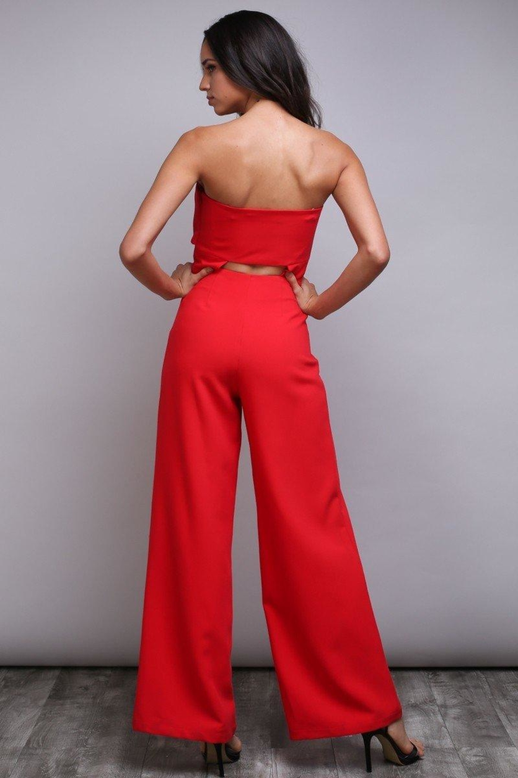 Do & Be Bow Bandeau Jumpsuit - Back Cropped Image