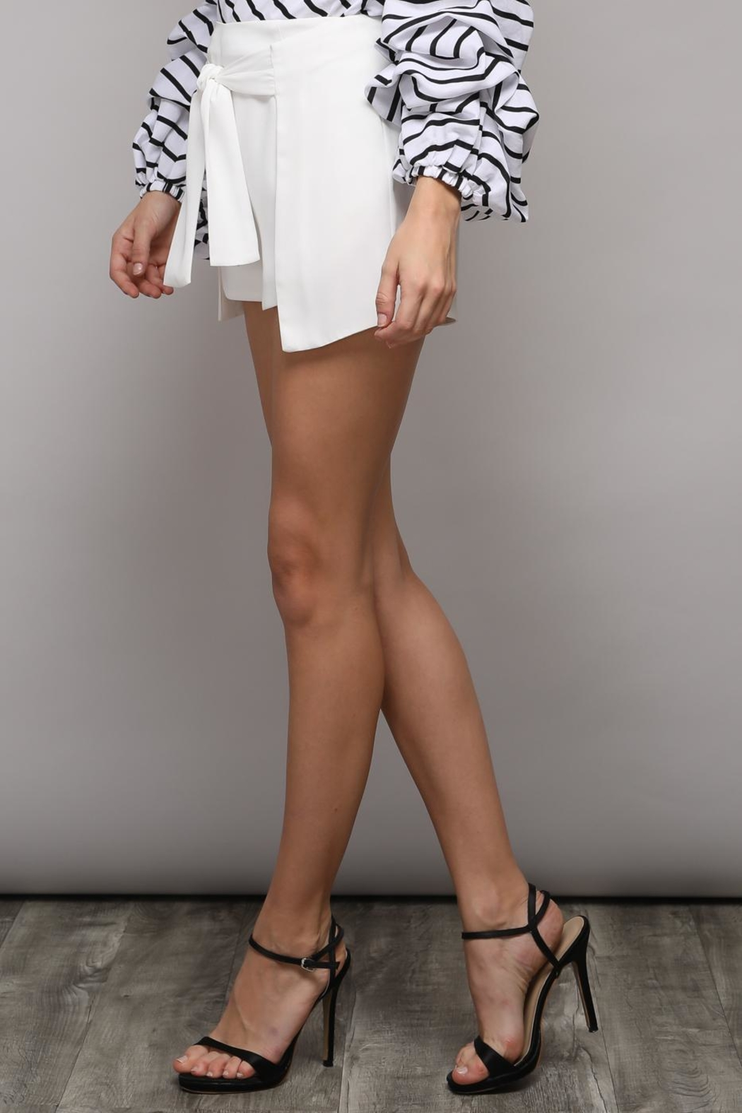 Do & Be Bow Front Shorts - Front Cropped Image