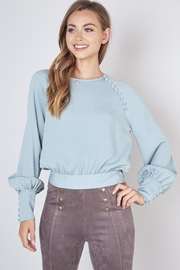Do & Be Button Detail Blous - Front cropped