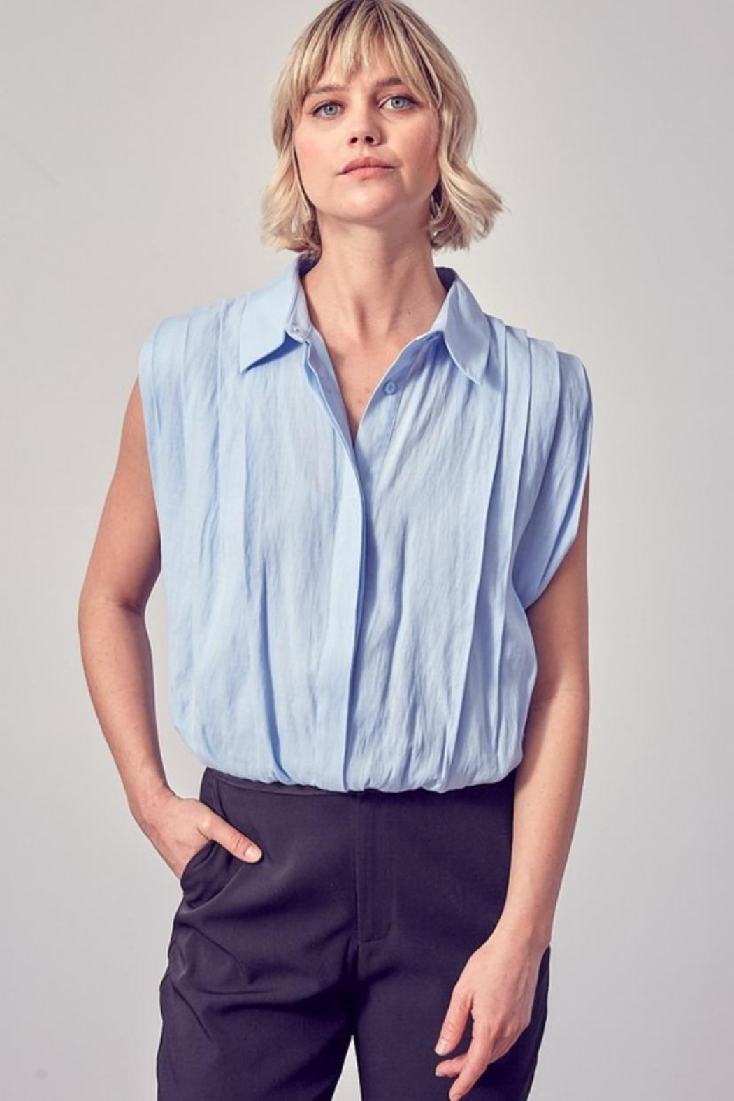 Do & Be Button-Down Collared Top - Main Image