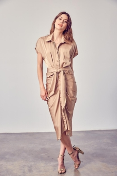 Do & Be Button Down Midi - Product List Image