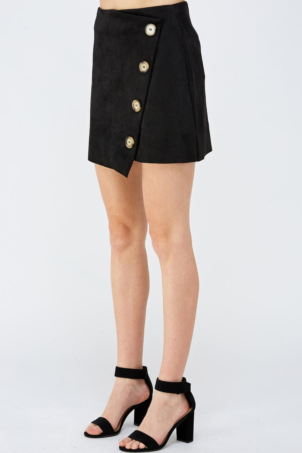 Do & Be Button Front Skirt - Side Cropped Image
