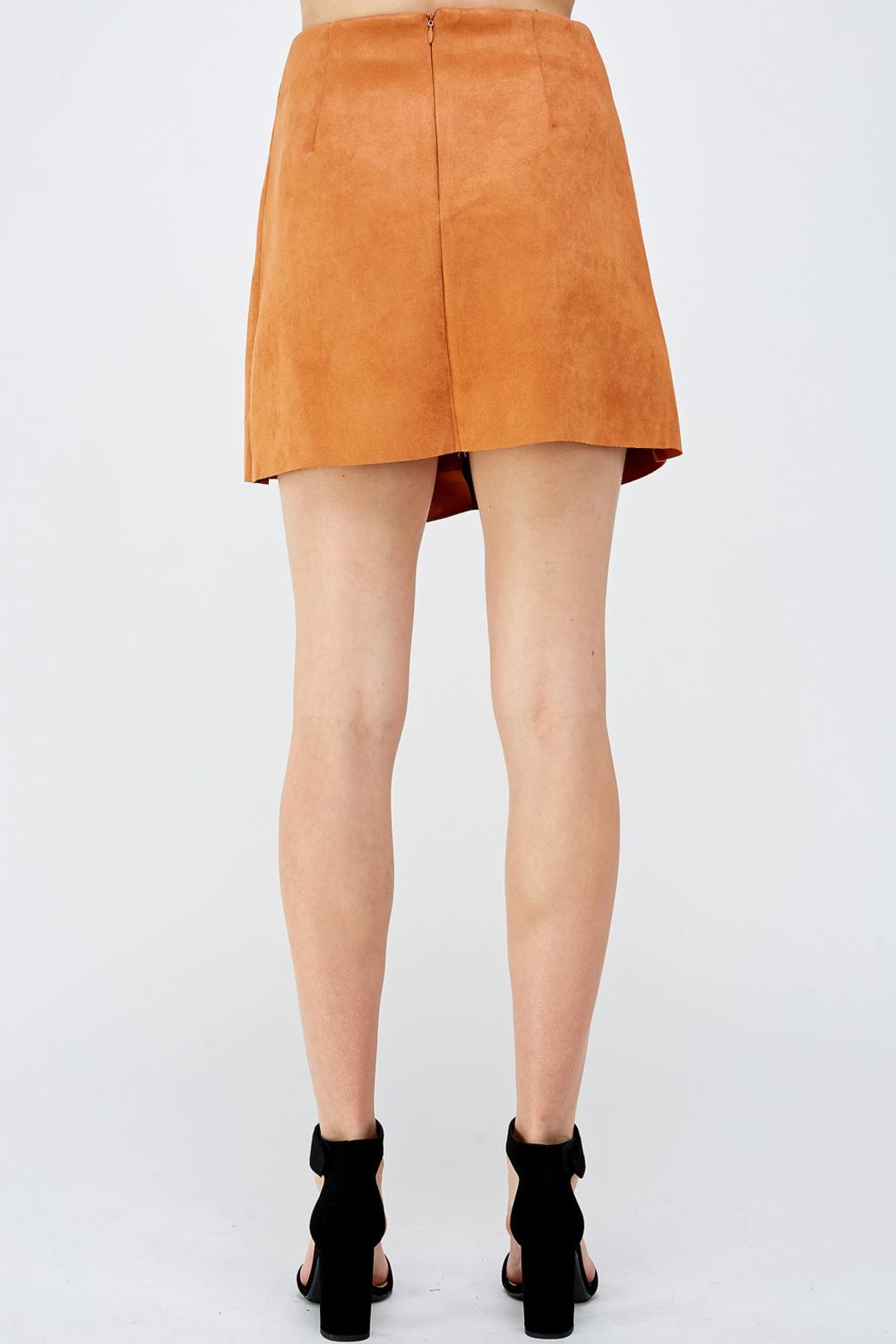 Do & Be Button Front Skirt - Back Cropped Image