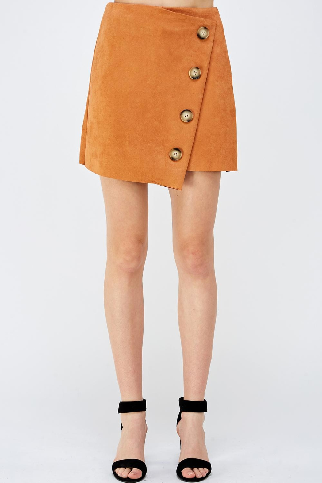 Do & Be Button Front Skirt - Main Image