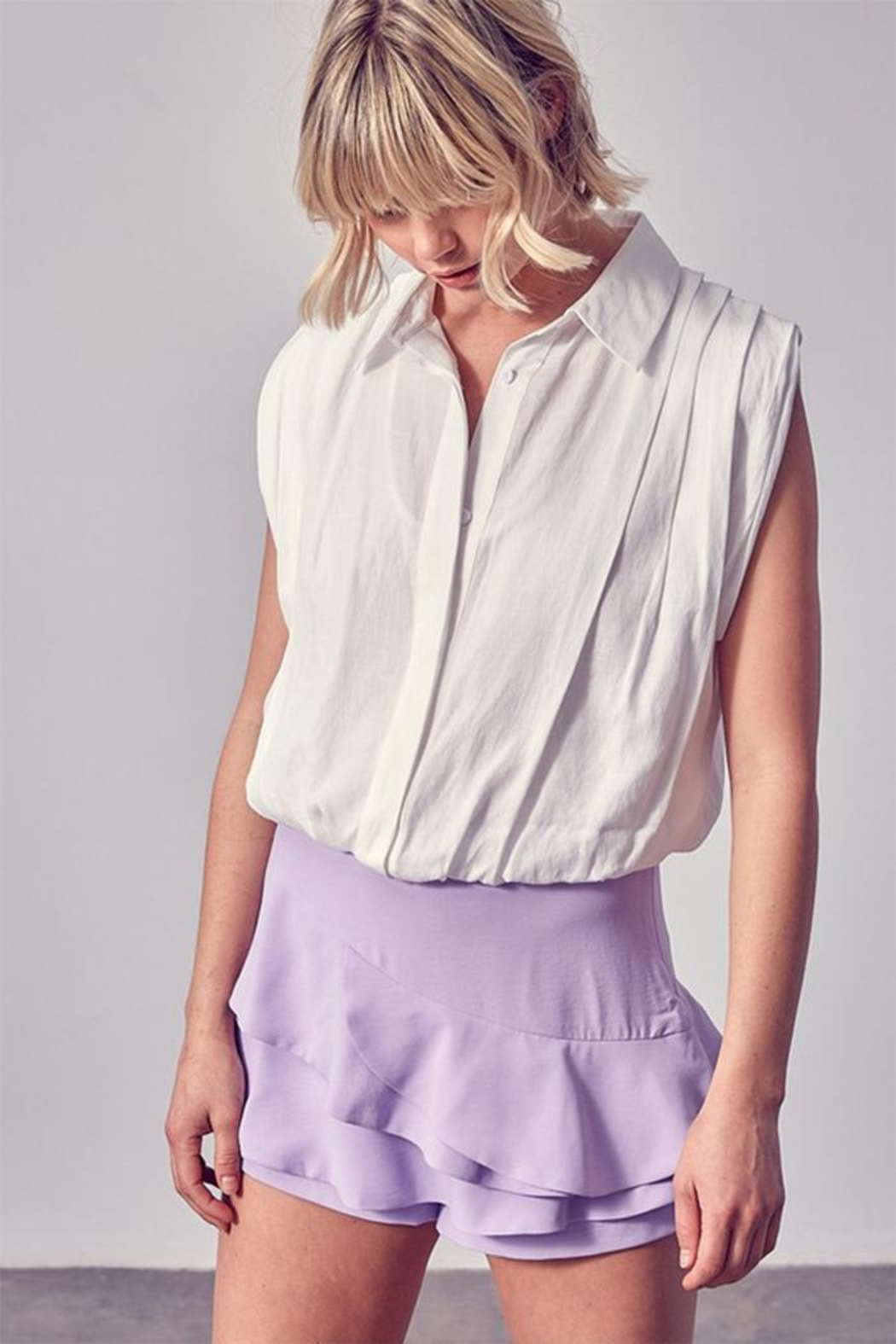 Do & Be Button-Up Collar Shirt - Front Cropped Image