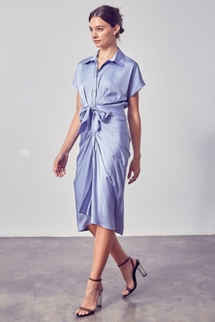 Do & Be Button Up Front Tie Dress - Product List Image
