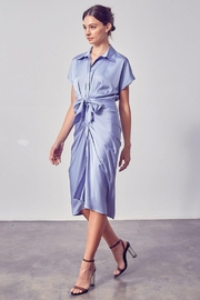 Do & Be Button Up Front Tie Dress - Product Mini Image
