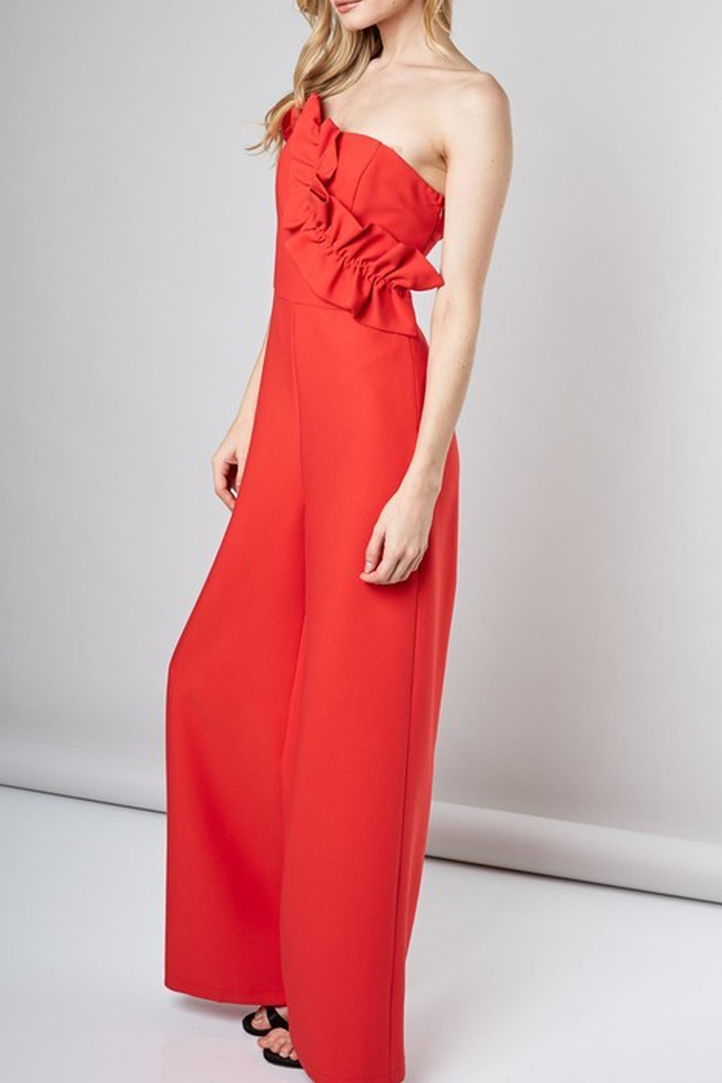 Do & Be Camilla Ruffled Jumpsuit - Side Cropped Image