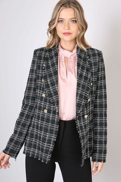 Do & Be Checked Tweed Blazer - Product List Image