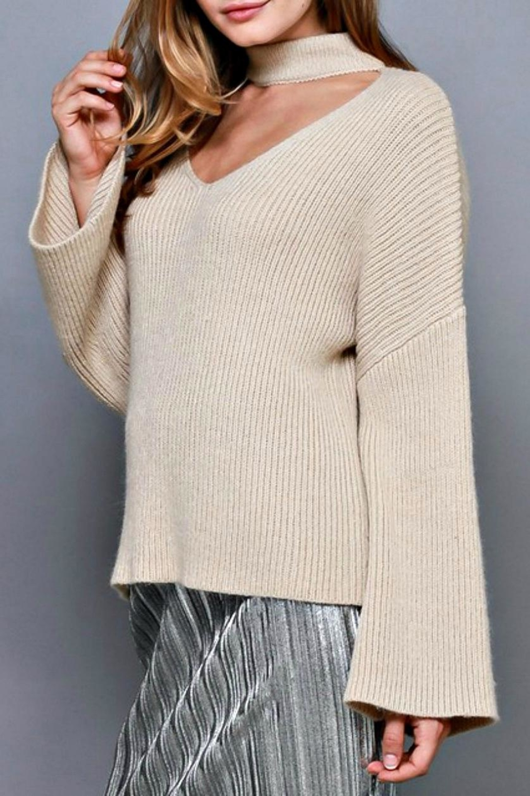 Do & Be Choker Neck Sweater - Side Cropped Image