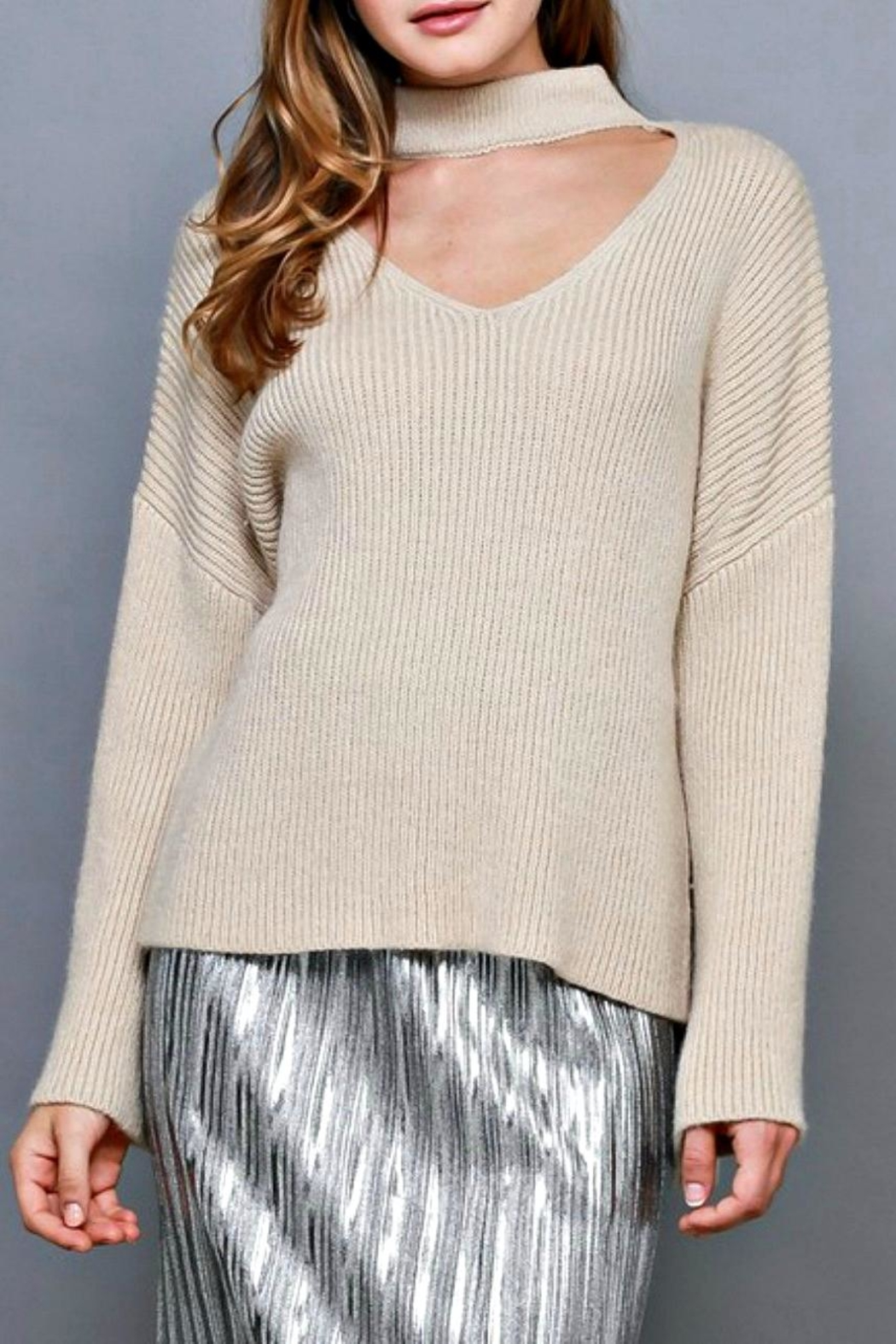 Do & Be Choker Neck Sweater - Front Cropped Image