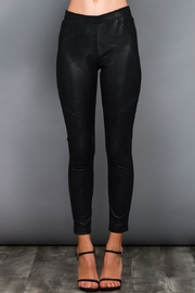 Do & Be Black Coated Leggings - Front cropped