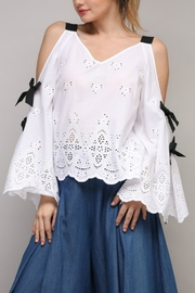 Do & Be Cold-Shoulder Eyelet Top - Product Mini Image