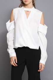Do & Be Cold Shoulder Top - Front cropped