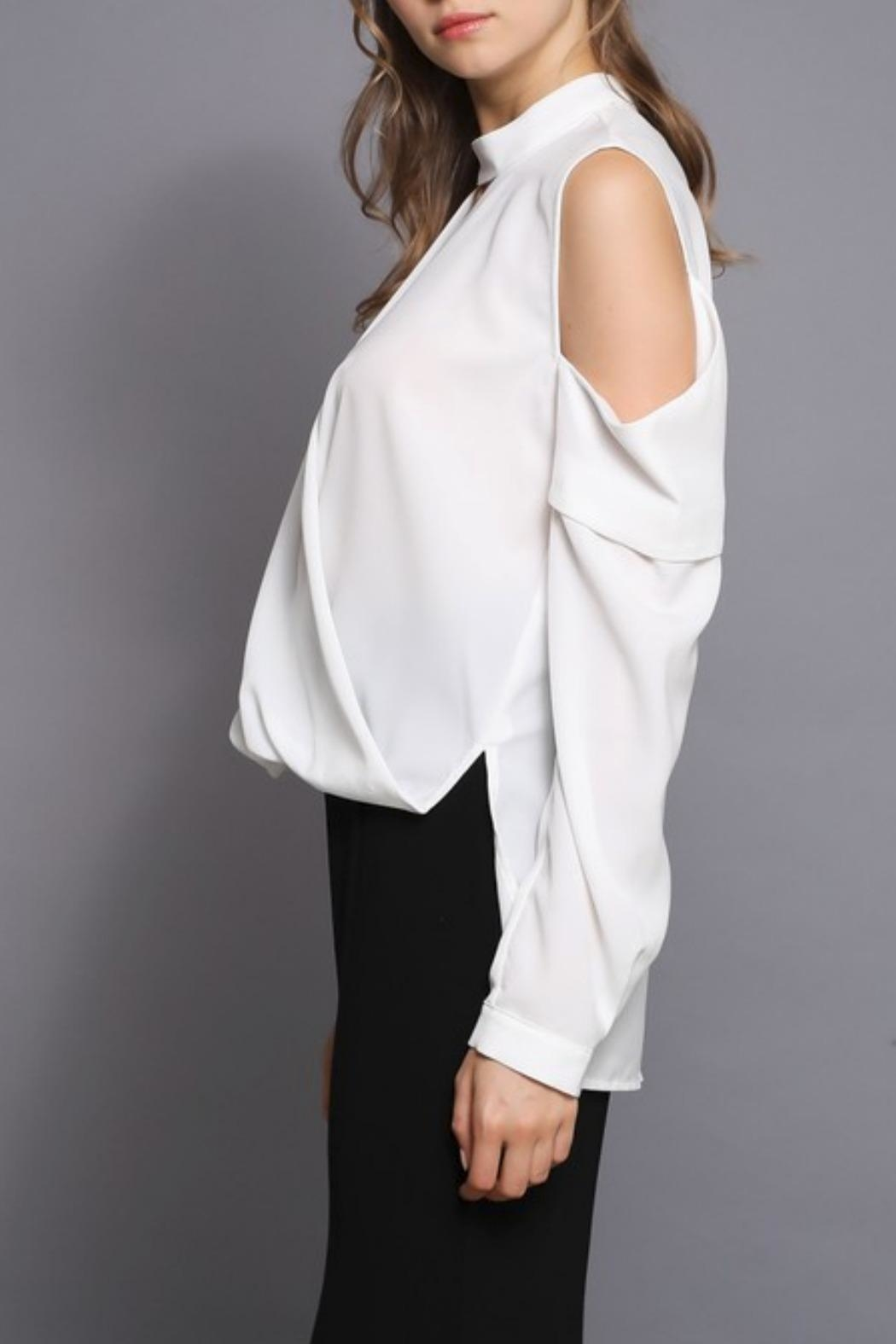 Do & Be Cold Shoulder Top - Front Full Image
