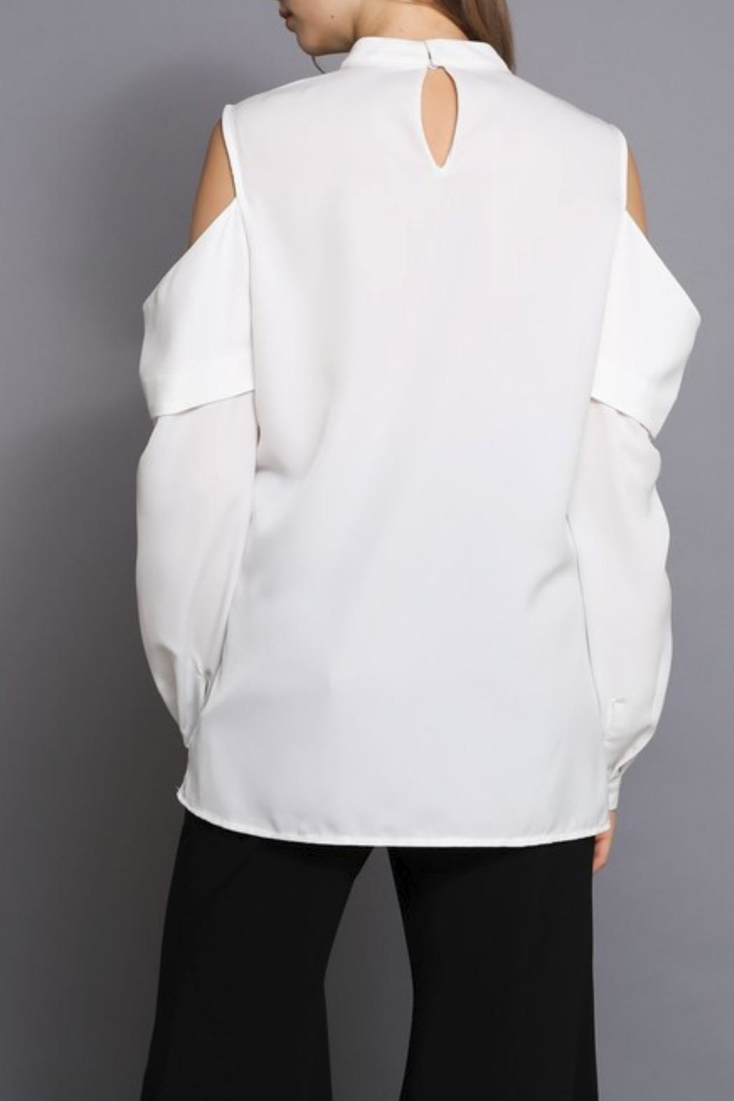 Do & Be Cold Shoulder Top - Side Cropped Image