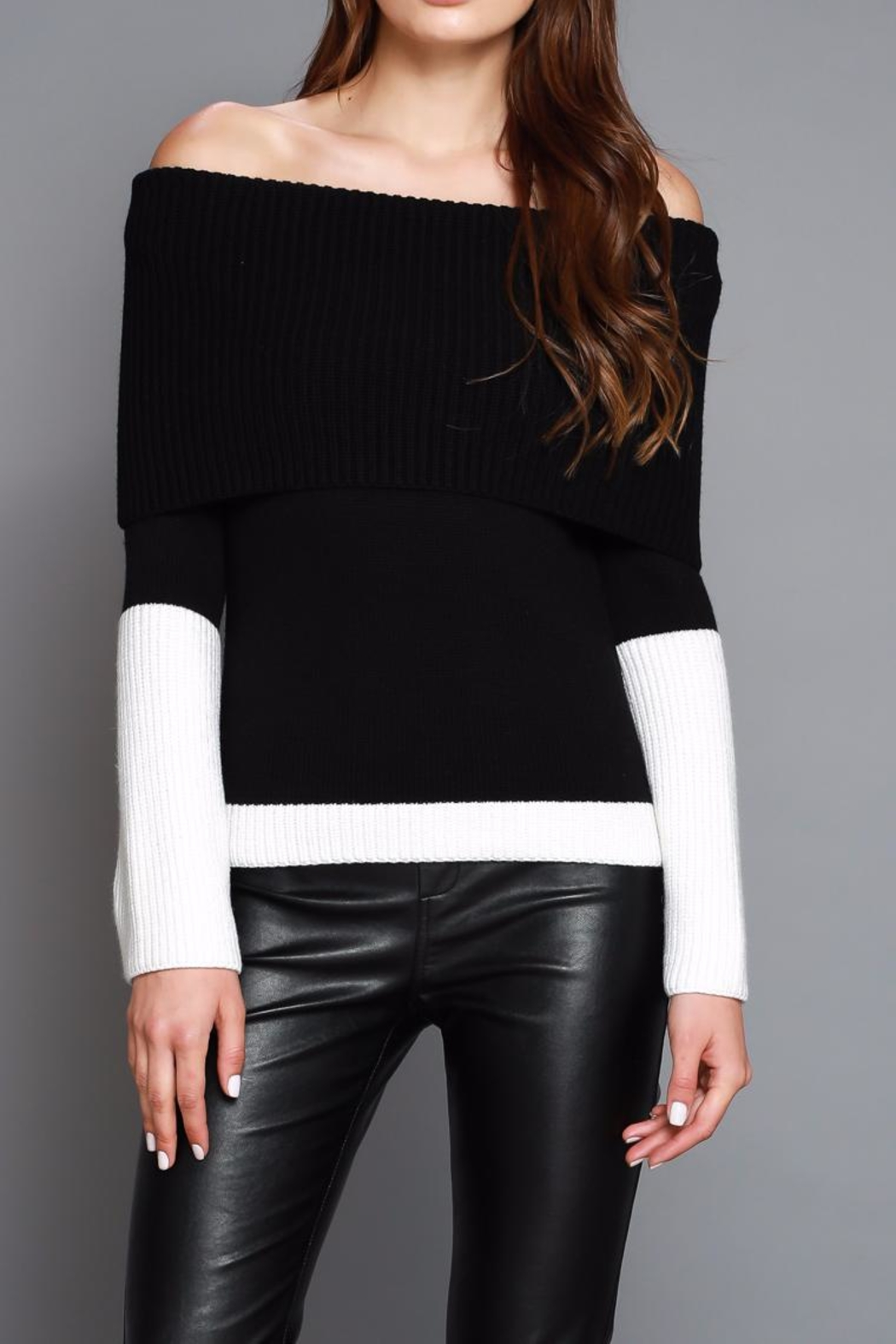 Do & Be Color Block Sweater - Main Image