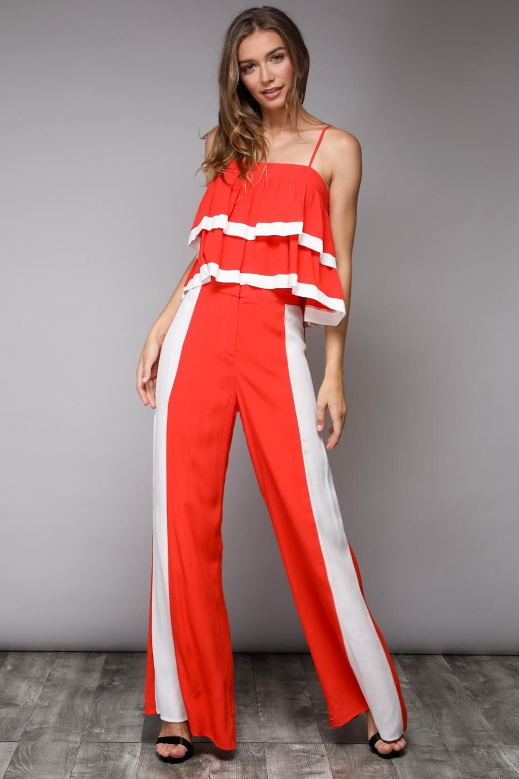 Do & Be Colorblock Pants - Back Cropped Image