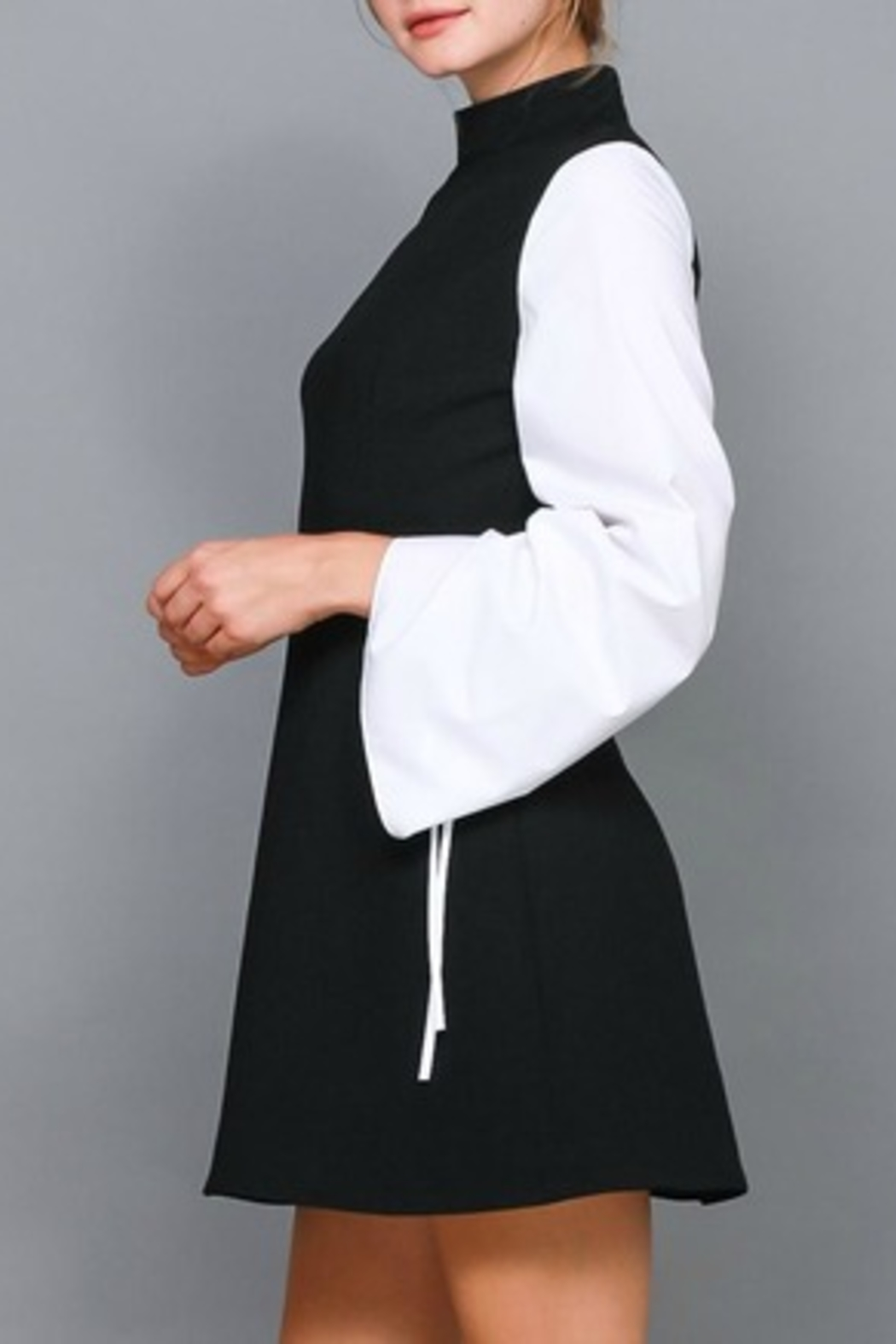 Do & Be Contrast Shirt Dress - Side Cropped Image