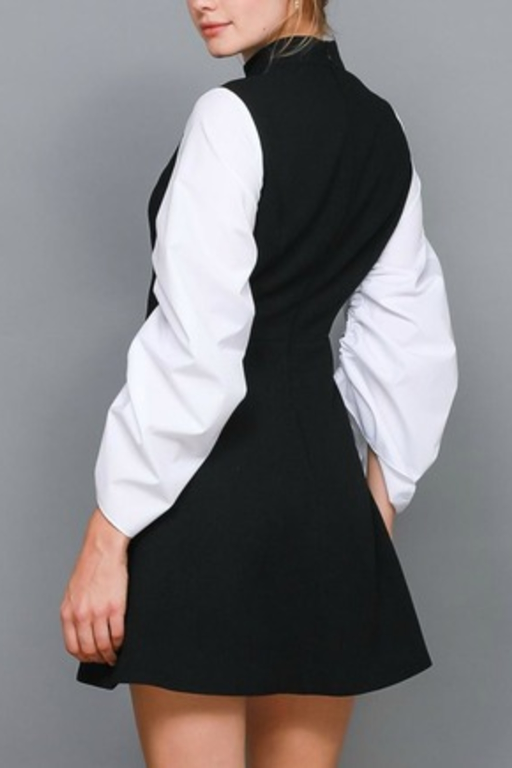Do & Be Contrast Shirt Dress - Front Full Image