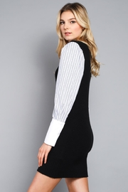 Do & Be Contrast Sleeve Dress - Front full body