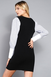 Do & Be Contrast Sleeve Dress - Back cropped