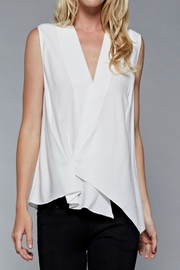 Do & Be Cream Asymmetrical Blouse - Front cropped