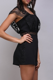Do & Be Crochet Strap Romper - Front cropped