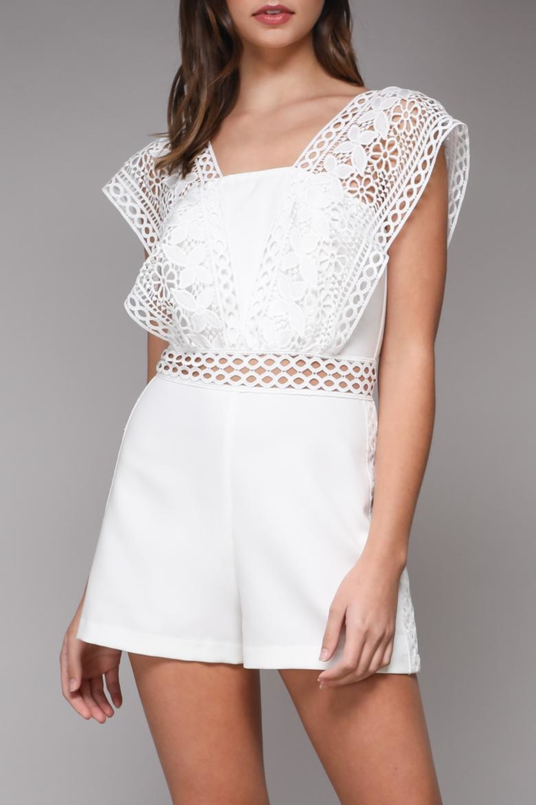 Do & Be Crochet Strap Romper - Main Image