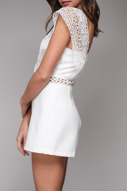 Do & Be Crochet Strap Romper - Side cropped