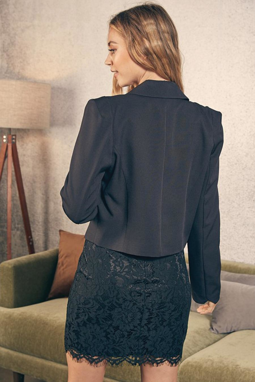 Do & Be Cropped Jacket With Gold Buttons - Side Cropped Image