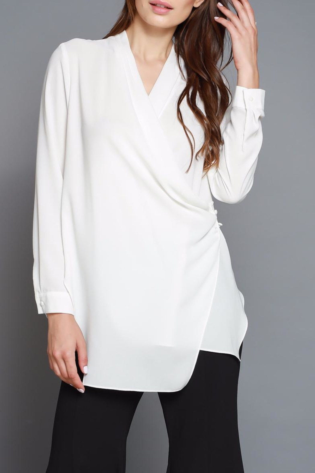 Do & Be Cross Front Blouse - Main Image