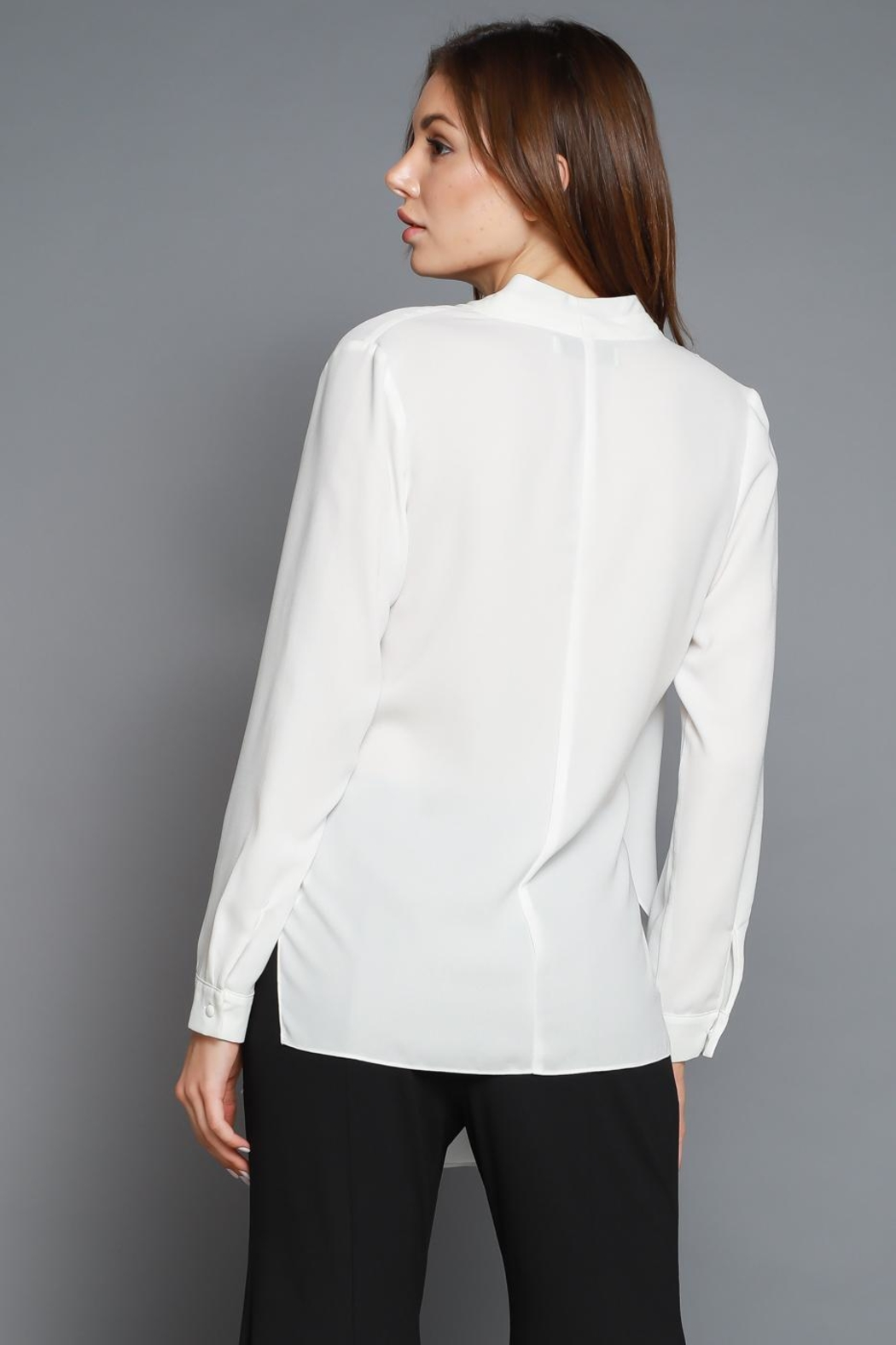 Do & Be Cross Front Blouse - Front Full Image