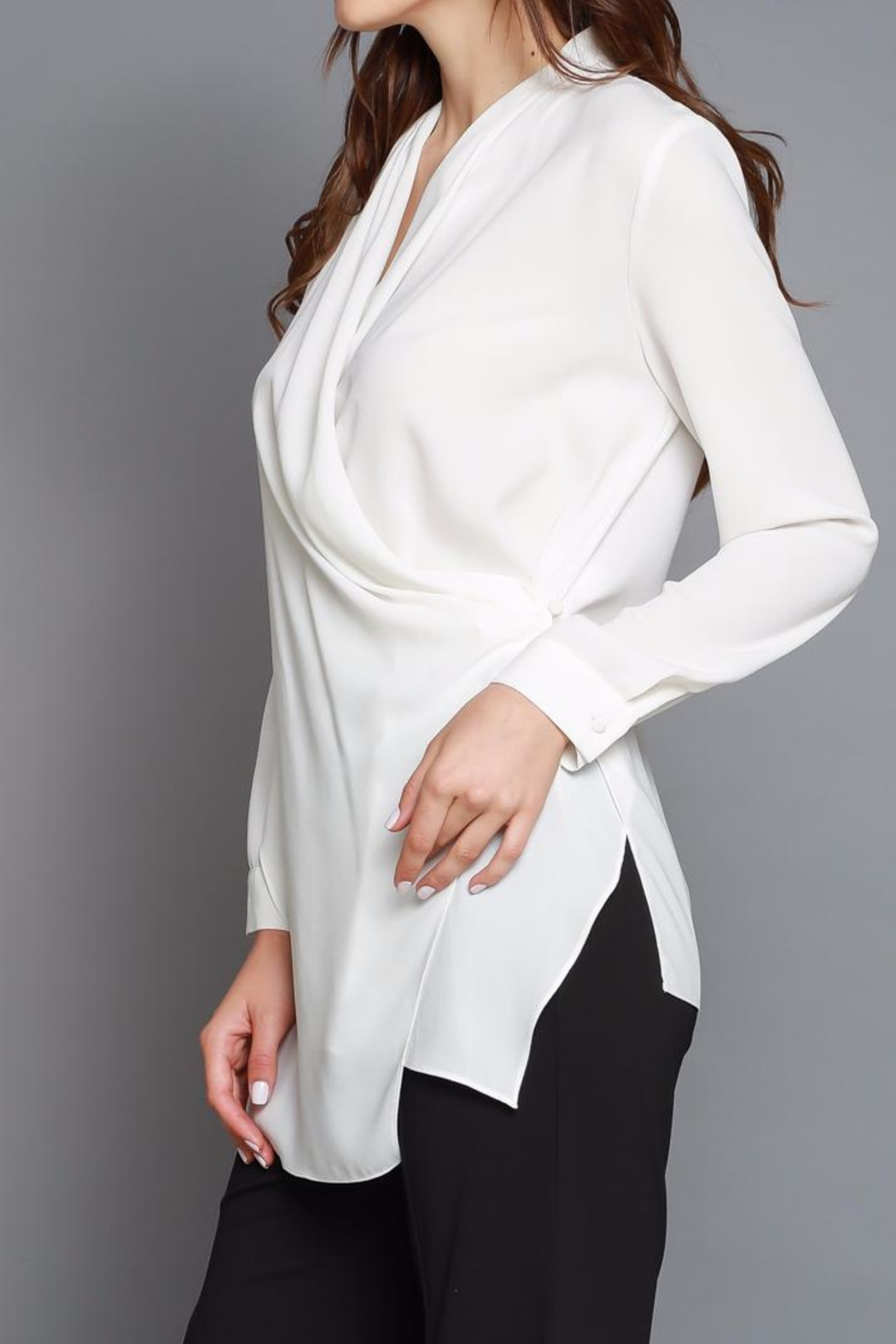 Do & Be Cross Front Blouse - Back Cropped Image