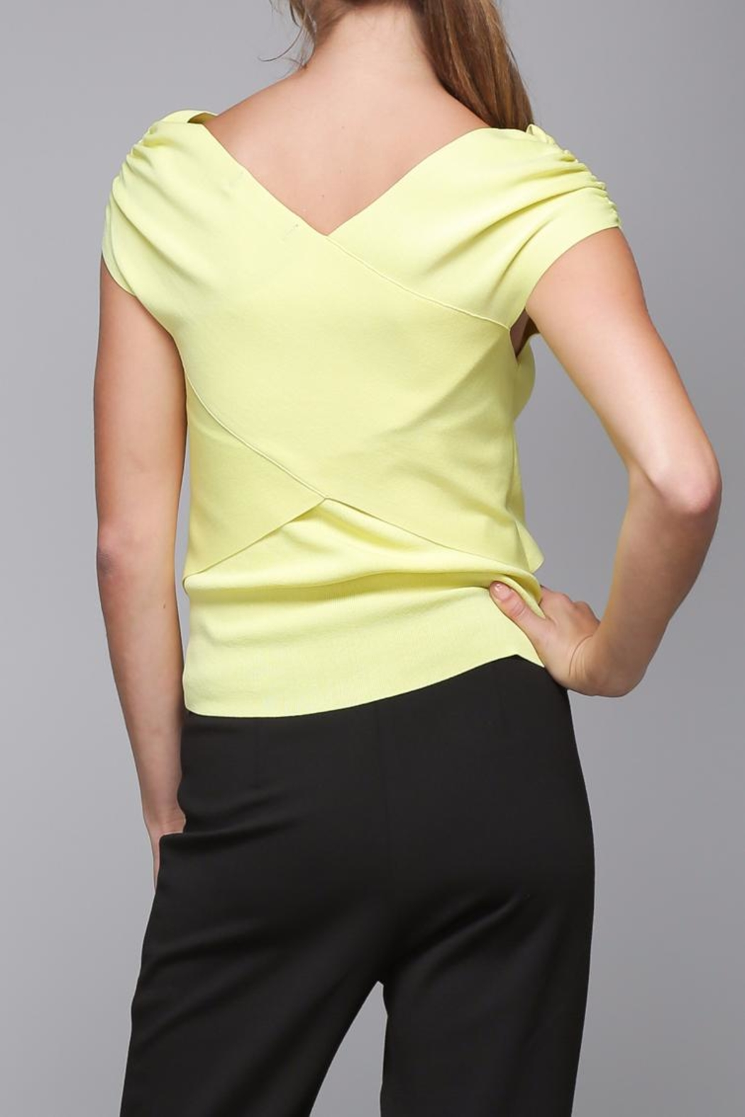Do & Be Cross Wrap Top - Front Full Image