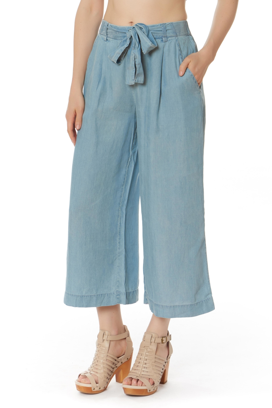 Do & Be Culotte Denim Pants - Front Cropped Image
