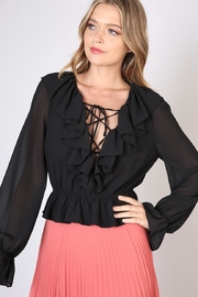 Do & Be Deep V-Neck Top - Front cropped