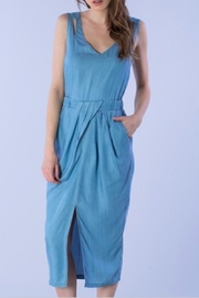 Do & Be Denim Slit Dress - Product Mini Image