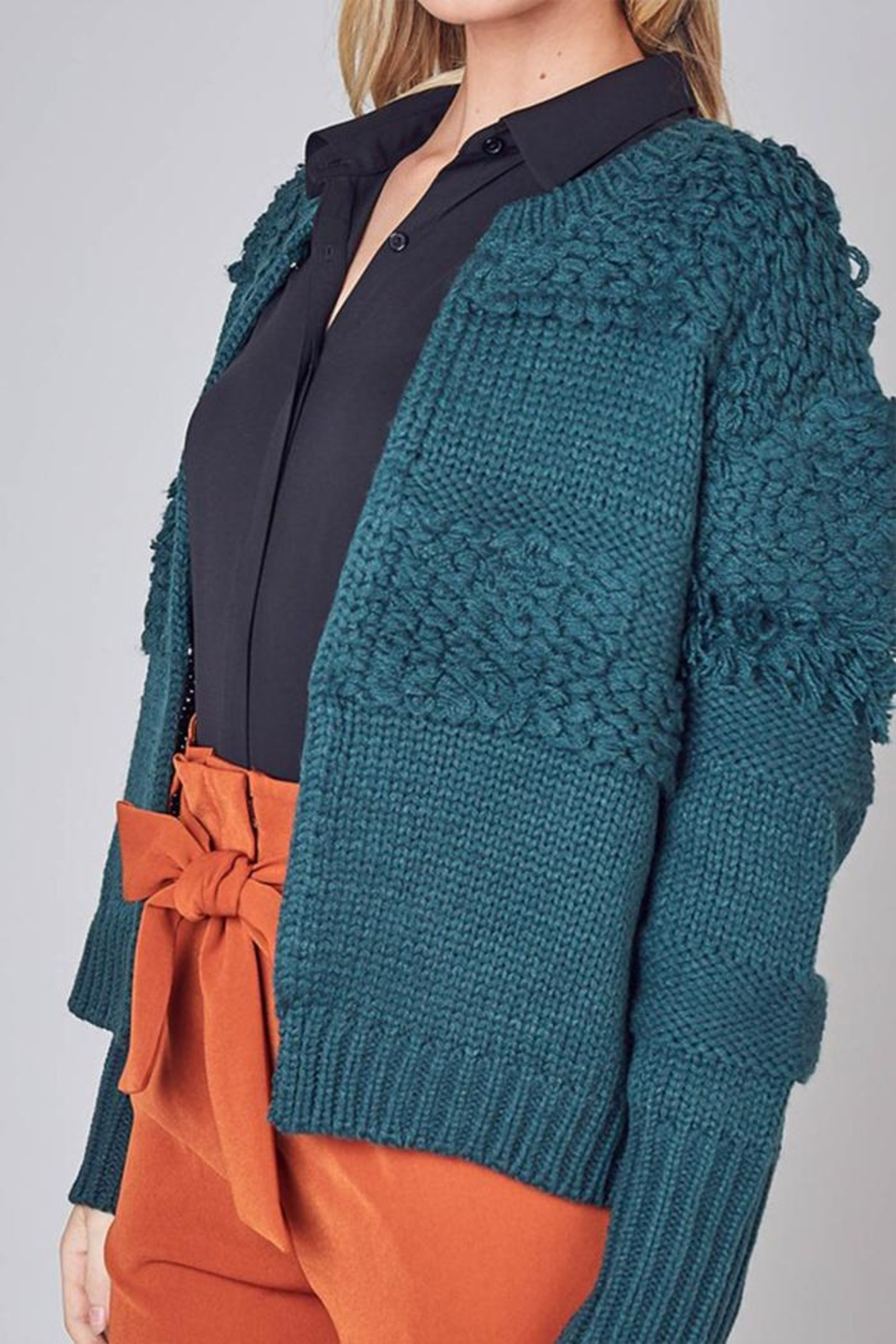 Do & Be Detail Hook-Closure Cardigan - Back Cropped Image