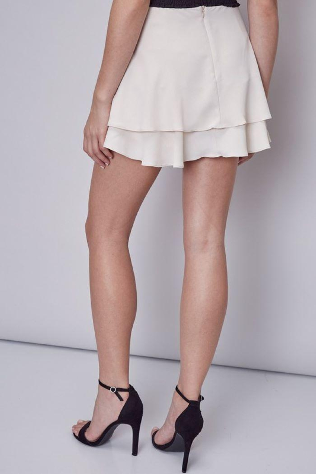 Do & Be Double Layer Mini Skort - Side Cropped Image