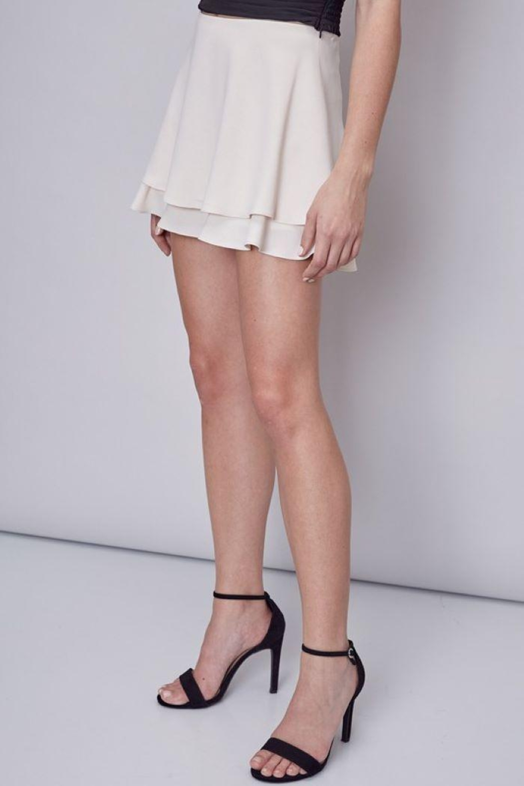 Do & Be Double Layer Mini Skort - Back Cropped Image